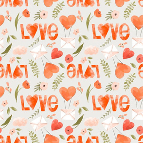 Love red hearts