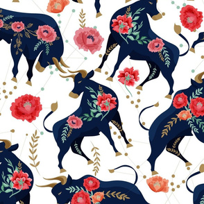 YEAR OF OX PEONIES WITH TAURUS CONSTALLATION