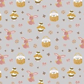 baby easter animals greige- small scale