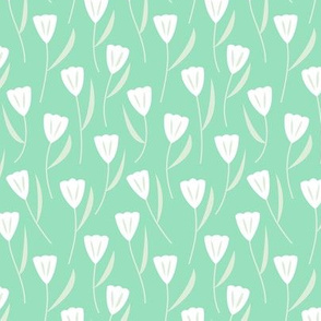 Small Tulips Mint (Serene)