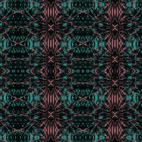 Thistle Flowers pattern on Teal Green by artestreestudio