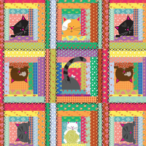 Patchwork Kitty - large scale