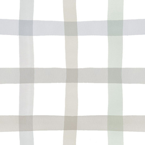 Neutral Watercolor Gingham