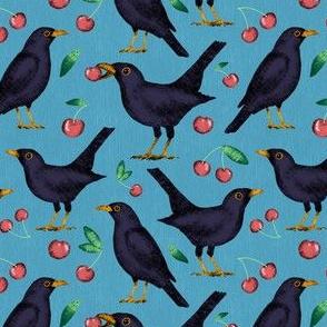 Blackbirds in the Cherries