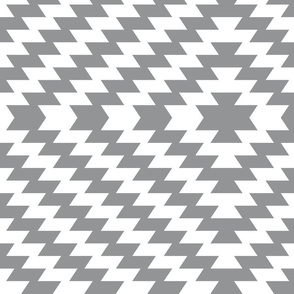 Modern Kilim - Ultimate gray and white