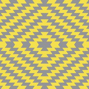 Modern Kilim - Illuminating yellow and Ultimate gray