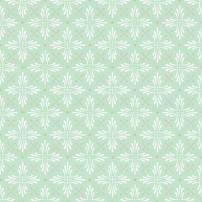 boho cross on mint green