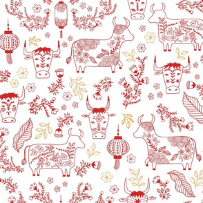 Year of the Ox Papercuts