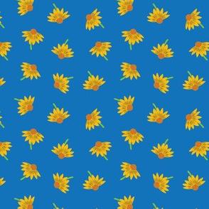 Fairytale Floral (Blue) - Large Scale