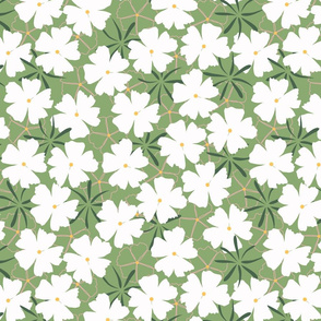 Spring flower in green
