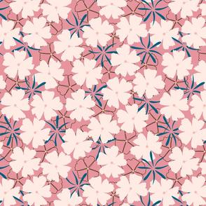 Spring flower in pink