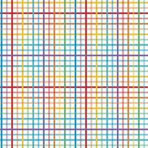 Pride Plaid - Small Stripe   Bright