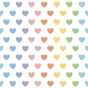 Rainbow Hearts | Pastel