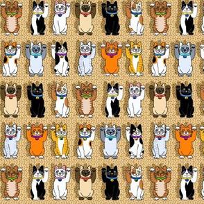 Many Maneki Neko Lucky Cats Smaller