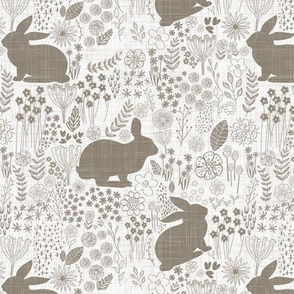 easter bunny taupe spring
