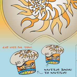 The Chefalopod presents: Nautilus & Nautilus Jr. Chef Hats!!