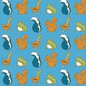 Duck Skunk Frog Squirrel
