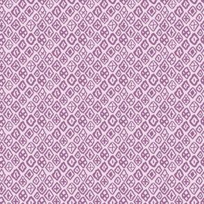 lavender purple tribal diamonds