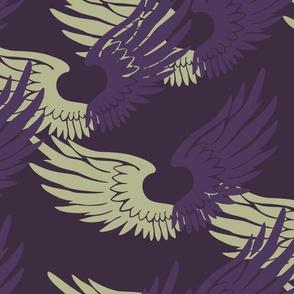 Heartwings: Purple, Beige