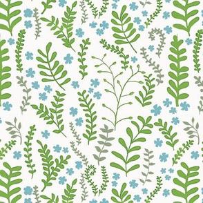 Floral Ferns - Spring Green