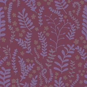Floral Ferns - Raspberry