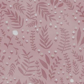 Forest Ferns - Dusty Pink