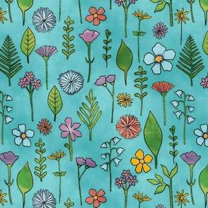Wildflowers - Turquoise