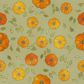 Pumpkin and Leaves (Pumpkin Spice Collection)