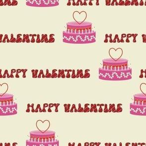Happy valentine taart