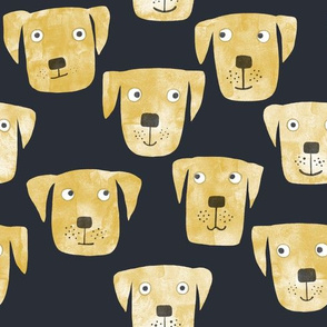 Golden Labrador Retriever Dogs Dark