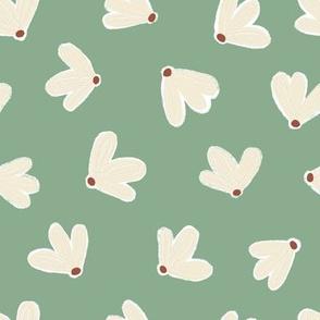 Fluttering Florals in Jade