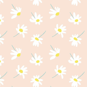 """WHITE DAISIES ON PINK 8"""""""