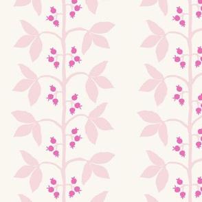 Berry Vine Stripe Anne Big Pinks on Cream