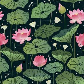 Lotus flowers pond