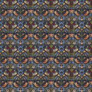 William Morris ~ Strawberry Thief ~ Bright Blue ~ Wee