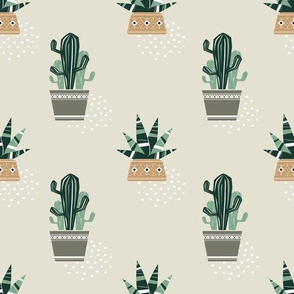 Cactuses and succulents pastel