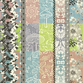 Patchwork Cottagecore muted colors