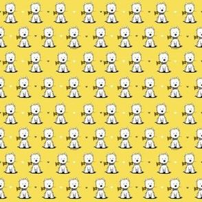 KiniArt Westie Gents Pantone Yellow & Gray