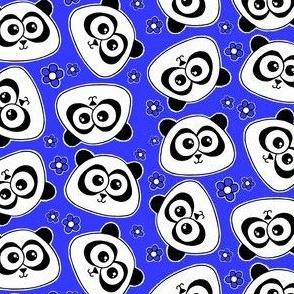 Cute Panda - on dark blue