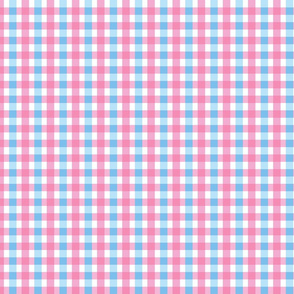 Baby Pink Blue Check