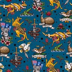 Retro_australian_tattoo_australia_day_fabric_-_navy