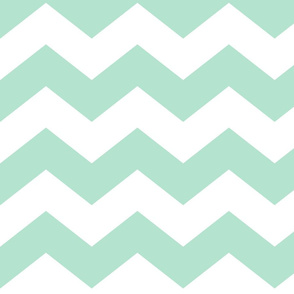 chevron lg mint green