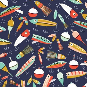 Fishing Lures Navy