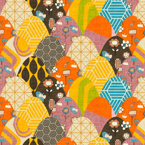 Patchwork Floral Scales