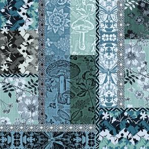 Patchwork Cottagecore Agean blue