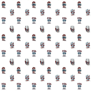 Basel Block Print _ Red_ White_ and Blue _  Peacoquette Designs _ Copyright 2018