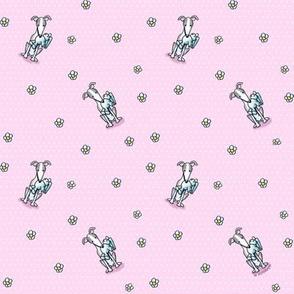 KiniArt Greyhounds Dots & Flowers Small
