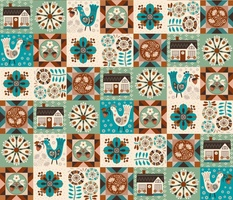 Contemporary hygge patchwork - 6 inch quilt