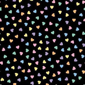 Kawaii Pastel Goth Candy Hearts (Solid)
