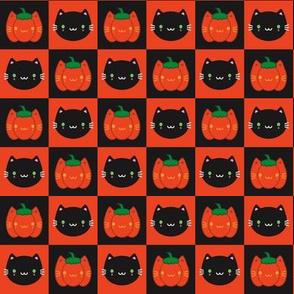Kawaii Halloween Pumpkin Cats